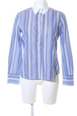 Eterna Langarmhemd blau-weiß Streifenmuster Business-Look