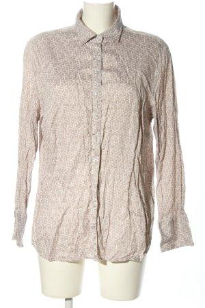 Eterna Langarmhemd creme-weiß Allover-Druck Casual-Look