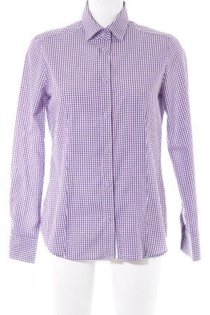Eterna Langarmhemd dunkelviolett-weiß Karomuster Casual-Look