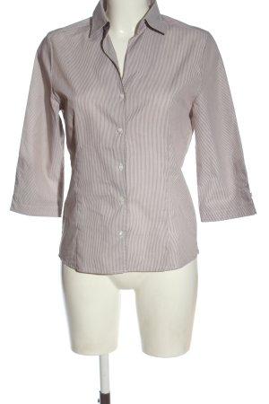 Eterna Camisa de manga larga marrón-blanco estilo «business»