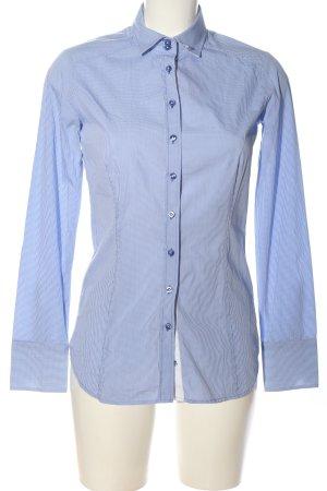 Eterna Chemise à manches longues bleu-blanc motif à carreaux