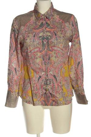 Eterna Camisa de manga larga estampado con diseño abstracto elegante