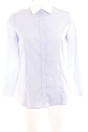 Eterna Langarmhemd weiß-himmelblau Streifenmuster Casual-Look