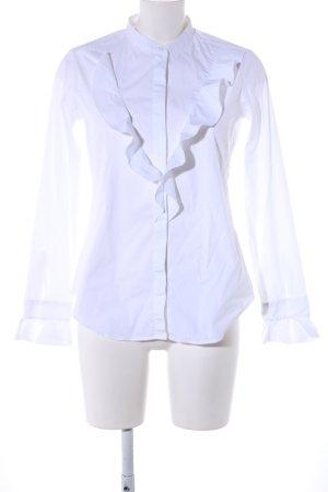 Eterna Camicetta con arricciature bianco stile professionale