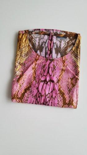 Eterna Sommerbluse Tshirt Schlangenprint rosa gelb braun M 38