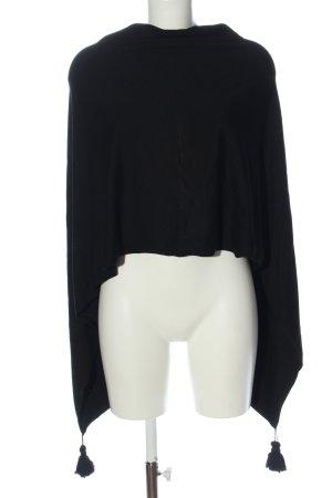 Eterna Poncho in maglia nero motivo a righe stile casual