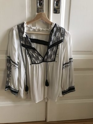Ba&sh Long Sleeve Blouse black-white