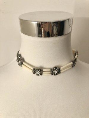 Bijou Brigitte Collier Necklace oatmeal-silver-colored
