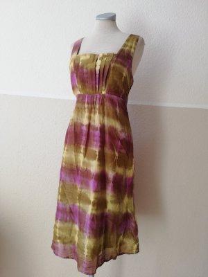 Ethno Kleid Batik Sommerkleid Baumwolle Seide Gr. UK 10 EUR 38 D 36 S per una