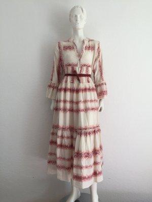 Ethno Kleid Carmen Style Cotton Onesize S-L New +Gürtel BY COCO
