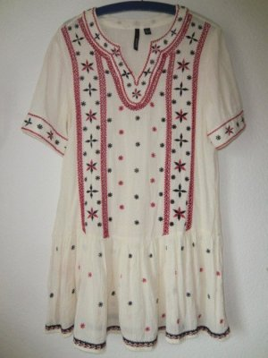 Ethno Kleid Stickerei Mango Tunika Boho dress bestickt 100% Baumwolle