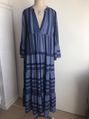 Robe Hippie gris ardoise-bleu foncé