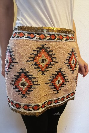 Ethno Rock aus Pailletten Zara Woman Studio neuwertig