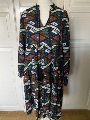 Ethno Viskose Kleid Tunikakleid