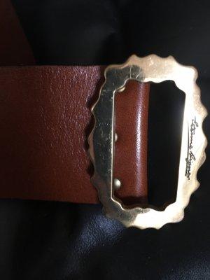 Etienne Aigner Cintura di pelle marrone