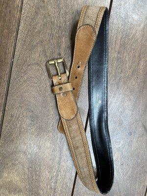 Etienne Aigner Cinturón de cuero marrón-beige