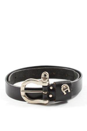 Etienne Aigner Hebilla del cinturón negro elegante