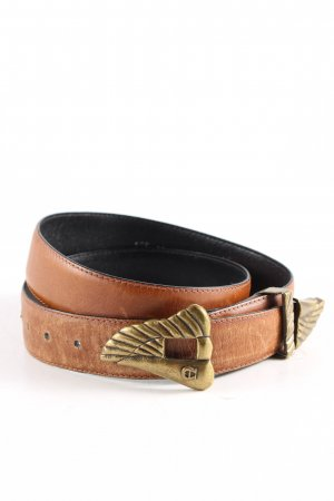 Etienne Aigner Leather Belt light orange-bronze-colored casual look