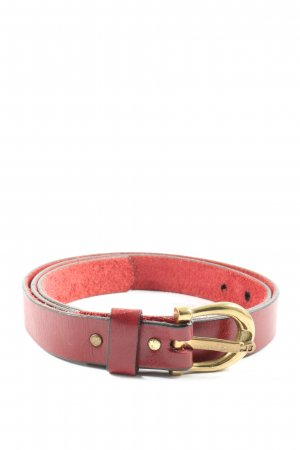Etienne Aigner Faux Leather Belt red casual look