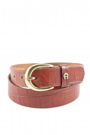 Etienne Aigner Faux Leather Belt brown business style