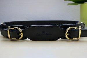 ETIENNE AIGNER Schwarz Leder Belt - 95 cm