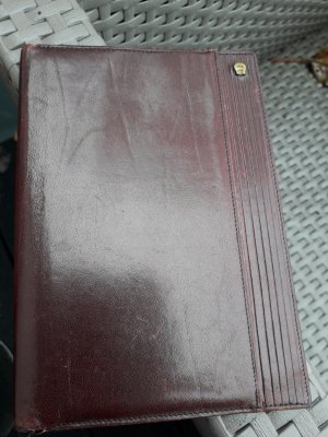 Etienne Aigner Porte-cartes brun-rouge cuir