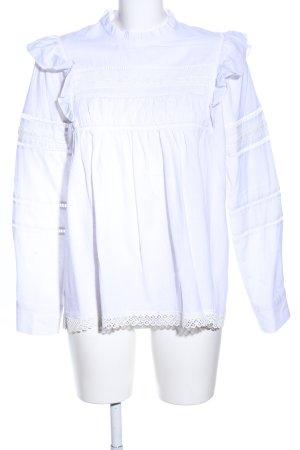 Schlupf-Bluse weiß Elegant