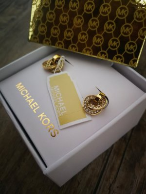 Etikettpreis 79€ Original Michael Kors Ohrringe Schmuck Kristall Damen Goldfarbe