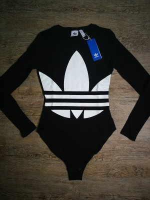 Adidas Bodyblouse wit-zwart