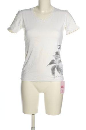 Etirel Camicia fantasia bianco-nero motivo floreale stile casual