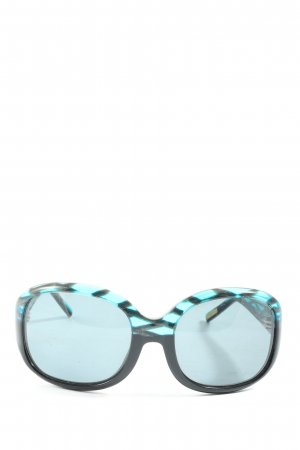 Etnia Barcelona Glasses black-turquoise casual look