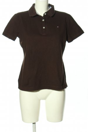 Tommy Hilfiger Polo-Shirt braun Casual-Look