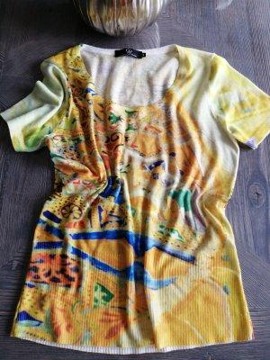 Etoile du Monde Haut tricotés jaune-bleu