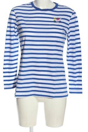 Être Cécile Stripe Shirt white-blue printed lettering casual look