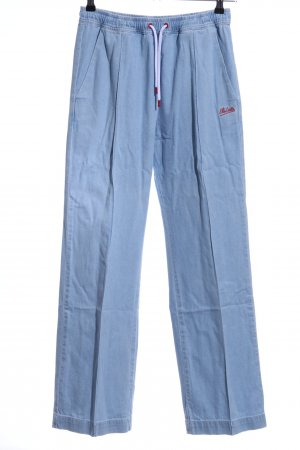 Être Cécile Straight-Leg Jeans himmelblau-rot Casual-Look