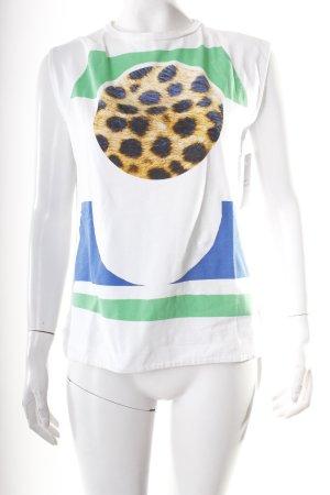 Être Cécile T-Shirt Animalmuster sportlicher Stil