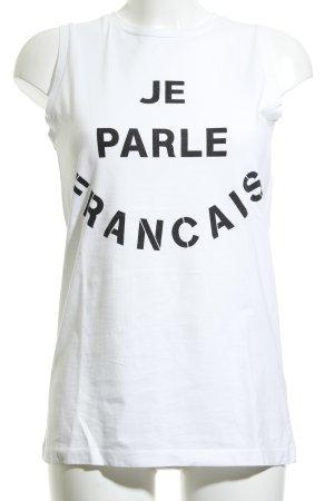 Être Cécile Tanktop weiß-schwarz Motivdruck Casual-Look