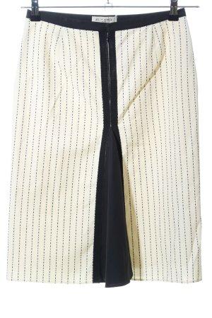 Etro Bleistiftrock creme-schwarz Allover-Druck Elegant