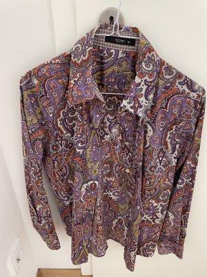 Etro Blouse Shirt purple-brown violet