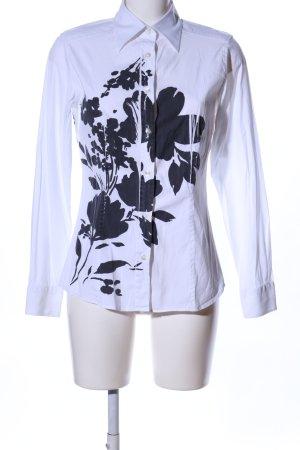 Etro Bluse weiß-schwarz Blumenmuster Casual-Look