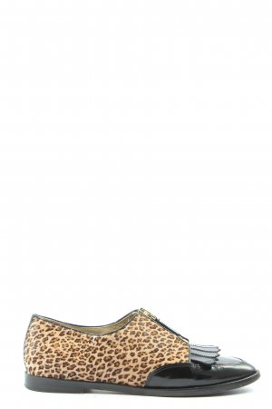 Etro Scarpa cap-toe motivo animale stile casual
