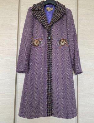Etro Wool Coat grey lilac