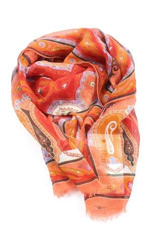 Etro Pañoleta naranja claro estampado con diseño abstracto elegante