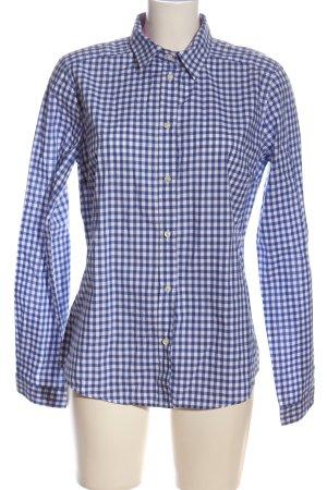 Etro Holzfällerhemd blau-weiß Allover-Druck Business-Look