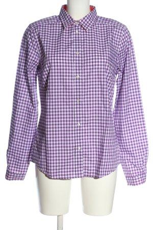 Etro Chemise de bûcheron violet-blanc motif à carreaux style décontracté