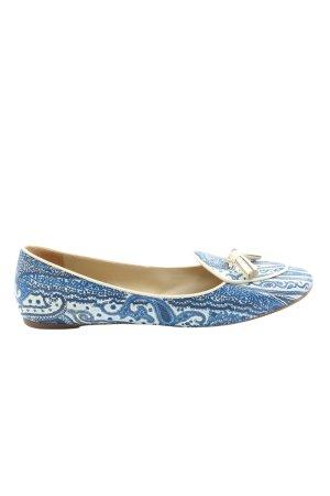 Etro Baleriny niebieski-biały Na całej powierzchni W stylu casual