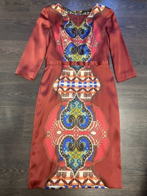 Etro Kleid bunt Seide Gr. It 44