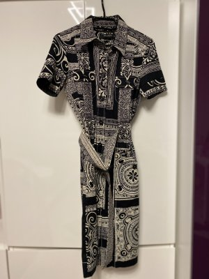 Etro Gabardina tipo vestido negro-blanco