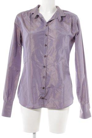 Etro Langarm-Bluse grauviolett Street-Fashion-Look