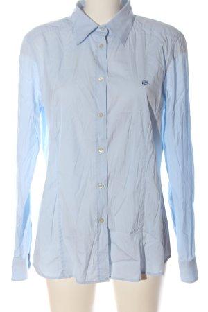 Etro Camicia a maniche lunghe blu caratteri ricamati stile casual